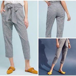 NWT ~ CARTONNIER Sz 10 Gingham Trousers Blue Check